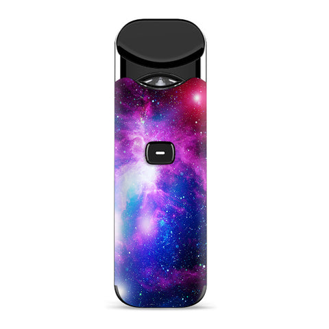 Stars Galaxy Red Blue Purple Gasses  Smok Nord Skin