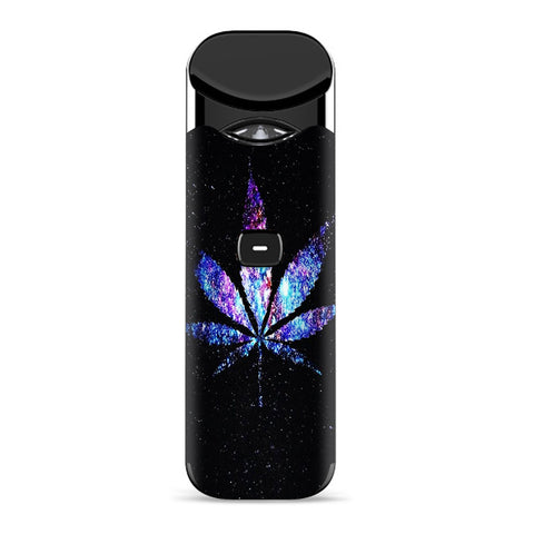 Pot Leaf Marijuana Cosmic Galaxy Outerspace Smok Nord Skin