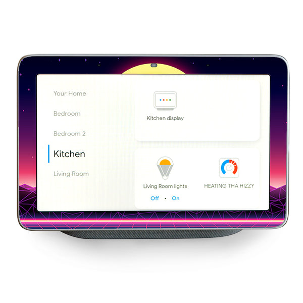 80S Techno Sunset  Google Home Hub Skin