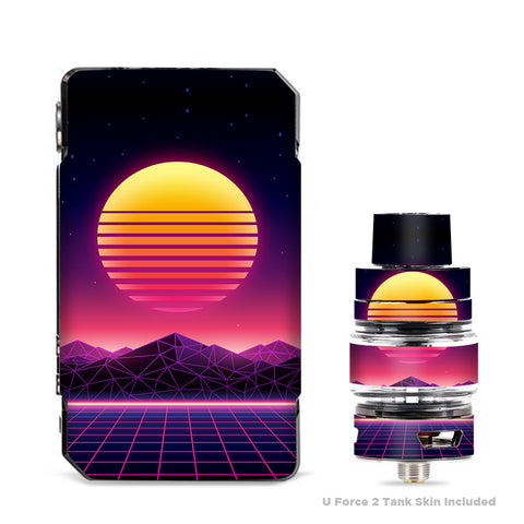 80S Techno Sunset VooPoo Drag Mini Skin