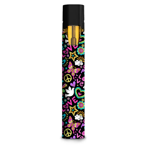 Peace And Love Guitar Rainbow Stiiizy starter stick Skin