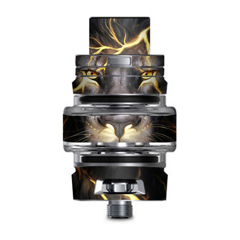 Lion Gold Lightening Fierce Smok TFV8 Big Baby V2 Tank Skin