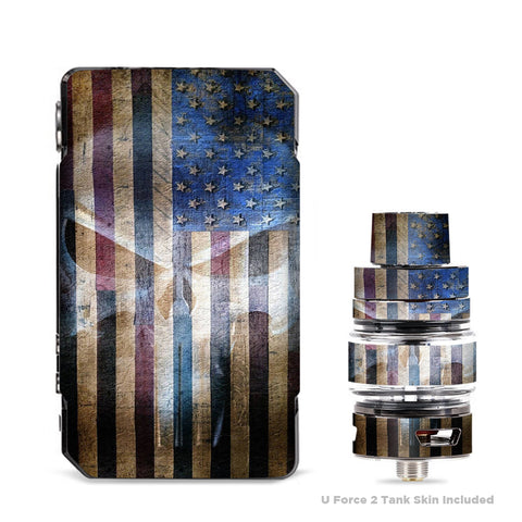 American Flag Ghost Punish Grunge VooPoo Drag Mini Skin