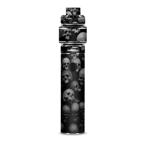 Black And White Skulls Stacked Smok Resa Stick Kit Skin