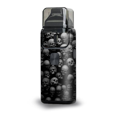 Black And White Skulls Stacked Aspire Breeze 2 Skin