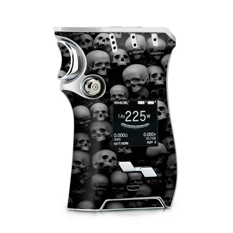 Black And White Skulls Stacked Smok Mag Skin
