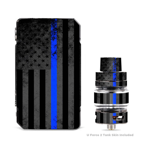 Thin Blue Line American Flag Distressed  VooPoo Drag Mini Skin