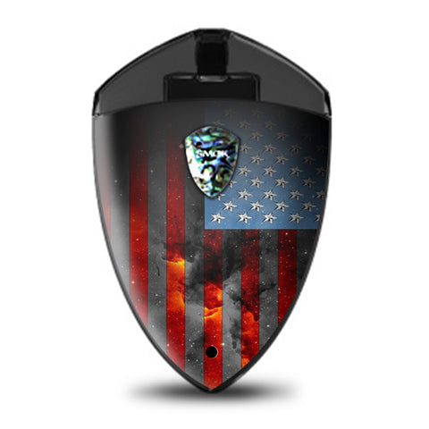 Dark Distressed American Flag Sky Stars Galaxy Smok Rolo Badge Skin