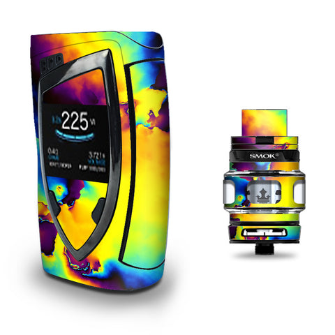 Bright Colorful Abstract Swirl Smok Devilkin kit Skin