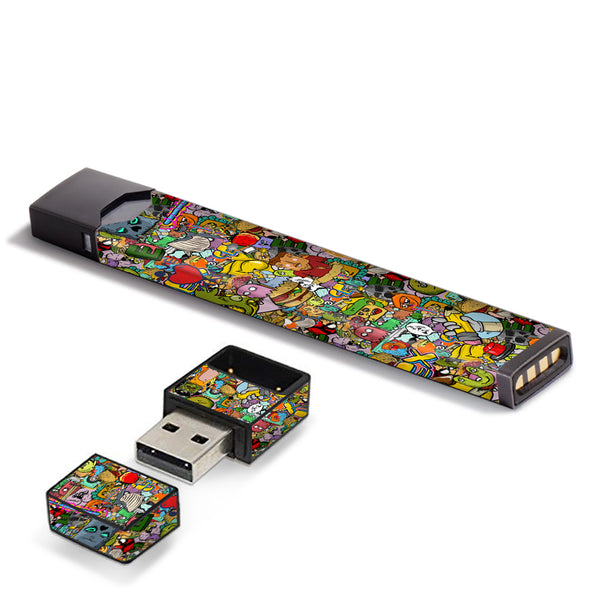 Sticker Slap Cartoon Bomb JUUL Skin