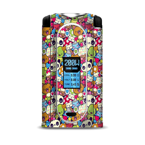 Panda Anime Cartoon Stickerslap VooPoo Vmate Skin