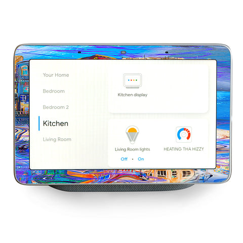 Colorful Oil Painting Water Reflection Google Home Hub Skin