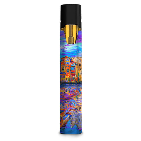 Colorful Oil Painting Water Reflection Town Homes Stiiizy starter stick Skin