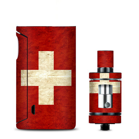Flag Switzerland Grunge Distressed Country Vaporesso Drizzle Fit Skin