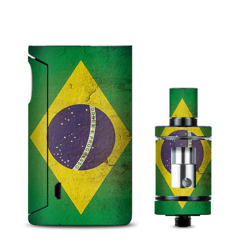 Flag Brazil Grunge Distressed Country Vaporesso Drizzle Fit Skin