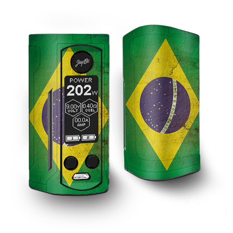 Flag Brazil Grunge Distressed Country Vaporesso Armour Kit Skin