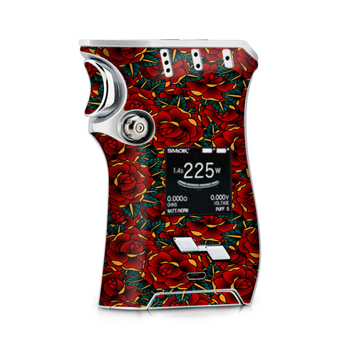 Red Gold Roses Tattoo Smok Mag Skin
