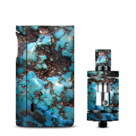 Stab Wood Blue Green Stabilized Stone Vaporesso Drizzle Fit Skin