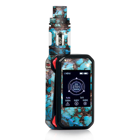 Stab Wood Blue Green Stabilized Stone Smok Gpriv2 Skin