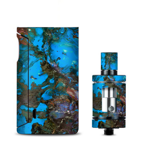 Stab Wood Oil Paint Blue Green Orange Vaporesso Drizzle Fit Skin