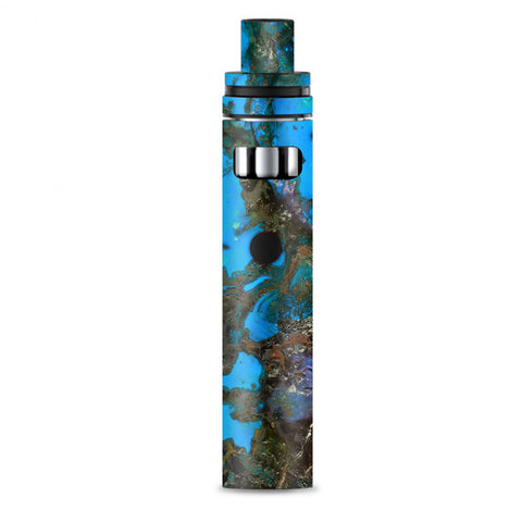 Stab Wood Oil Paint Blue Green Orange Smok Stick AIO Skin