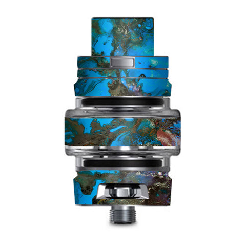 Stab Wood Oil Paint Blue Green Orange Smok TFV8 Big Baby V2 Tank Skin