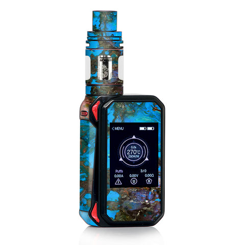 Stab Wood Oil Paint Blue Green Orange Smok Gpriv2 Skin