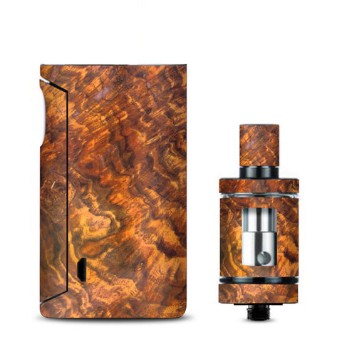 Orange Burnt Burl Wood Aged Vaporesso Drizzle Fit Skin