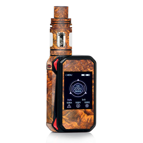 Orange Burnt Burl Wood Aged Smok Gpriv2 Skin