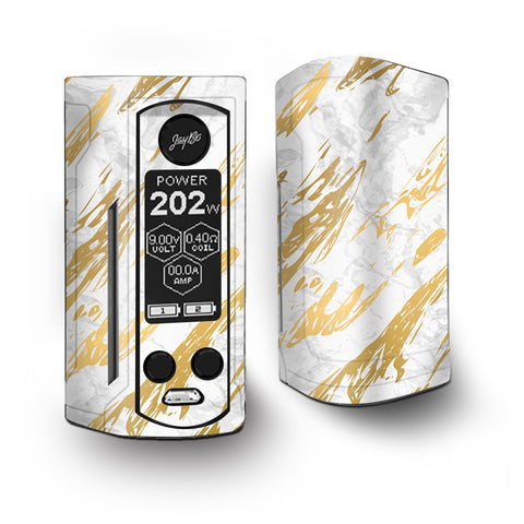 Gold Marlbe White Granite Stone Slate Vaporesso Armour Kit Skin