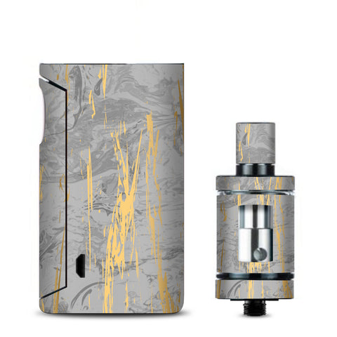 Gold Marble Light Gray  Stone Granite Vaporesso Drizzle Fit Skin