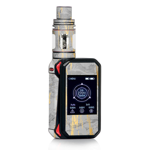 Gold Marble Light Gray  Stone Granite Smok Gpriv2 Skin