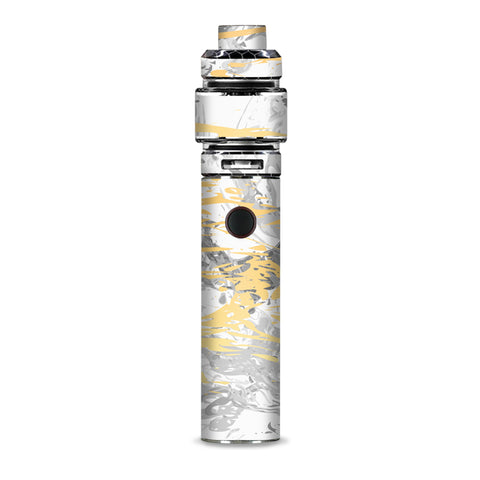 Gold Marble White Gray Swirl Stone Granite Smok Resa Stick Kit Skin