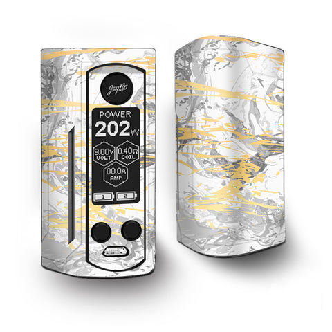 Gold Marble White Gray Swirl Stone Granite Vaporesso Armour Kit Skin