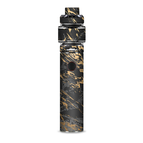 Gold Marble Dark Gray Background Smok Resa Stick Kit Skin