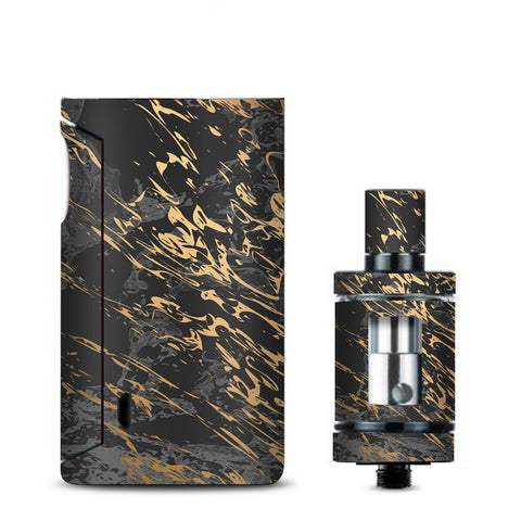 Gold Marble Dark Gray Background Vaporesso Drizzle Fit Skin