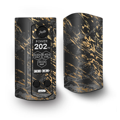 Gold Marble Dark Gray Background Vaporesso Armour Kit Skin