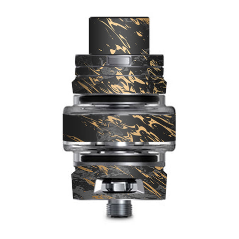 Gold Marble Dark Gray Background Smok TFV8 Big Baby V2 Tank Skin