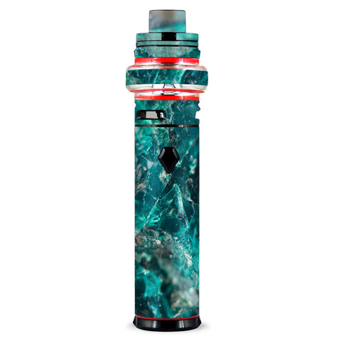 Chrysocolla Hydrated Copper Glass Teal Blue Smok stick V9 Max Skin