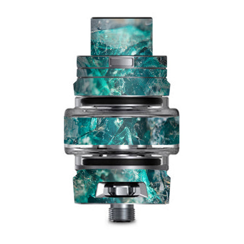 Chrysocolla Hydrated Copper Glass Teal Blue Smok TFV8 Big Baby V2 Tank Skin