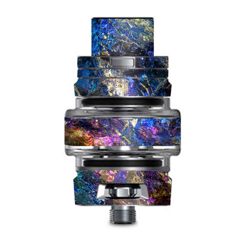 Chalcopyrite Colorful Purple Glass Rock Crystal Smok TFV8 Big Baby V2 Tank Skin