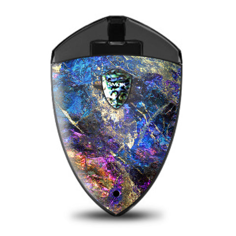 Chalcopyrite Colorful Purple Glass Rock Crystal Smok Rolo Badge Skin