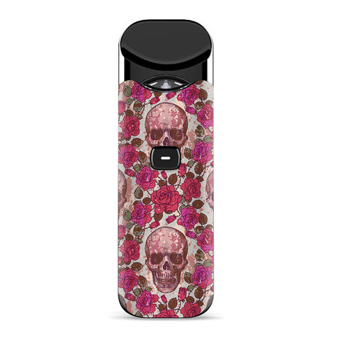 Pink Roses With Skulls Distressed Smok Nord Skin