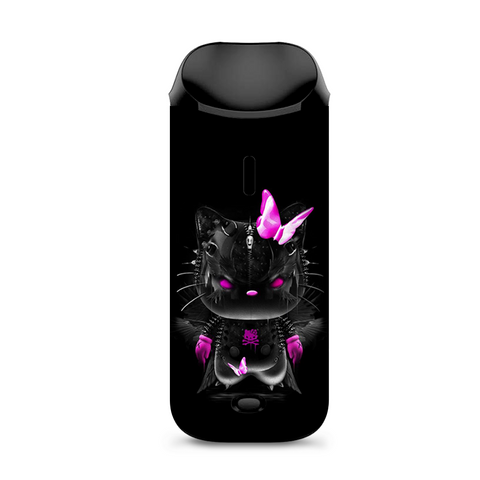 Cute Kitty In Black Vaporesso Nexus AIO Kit Skin