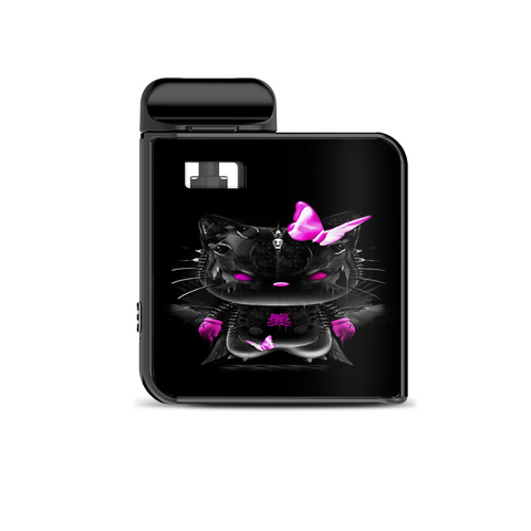 Cute Kitty In Black Smok Mico Kit Skin