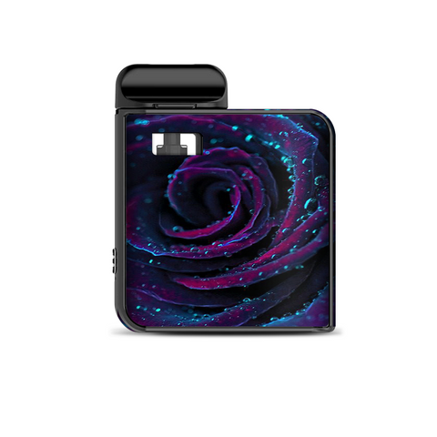 Purple Rose Pedals Water Drops Smok Mico Kit Skin