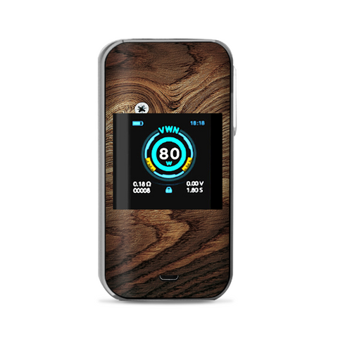 Dark Wood Knot Screw In Walnut Vaporesso Luxe Nano Kit Skin