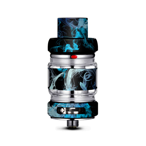 Blue Green White Smoke Freemax Mesh Pro Tank Skin