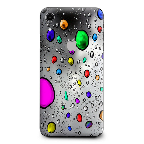 Colored Rain Drops 3D Effect Apple iPhone XR Skin