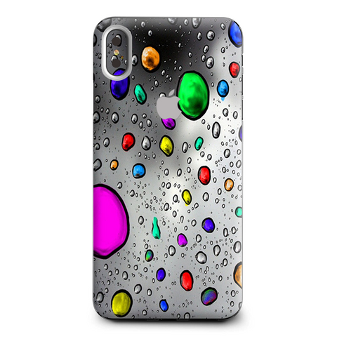 Colored Rain Drops 3D Effect Apple iPhone XS Max Skin